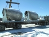 Shipping Day - 2 9 Yard Hide Units drums are stainless steel