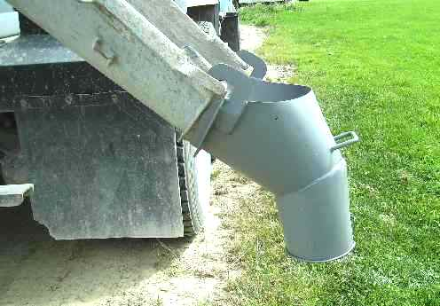 C1072 Steel Chute Funnel Concrete Mixer Supply